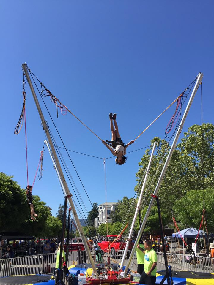bungee jump activity at the Mountain View A la Carte & Art kids zone